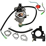 Anzac Carburetor Carb For DuroMax PowerMax XP8500E-CA XP10000E XP10000E-CA 16HP Generator with On Off Stop Switch