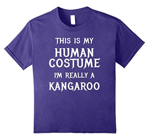 Kids I'm Really a Kangaroo Halloween Costume Shirt Easy Funny 12 Purple (Diy Kangaroo Costume)
