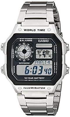 Casio Men's AE1200WHD-1A Stainless Steel Digital Watch from Casio