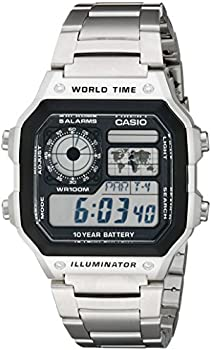 Casio AE1200WHD-1A Men's Stainless Steel Digital Watch