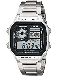 Mens AE1200WHD-1A Stainless Steel Digital Watch