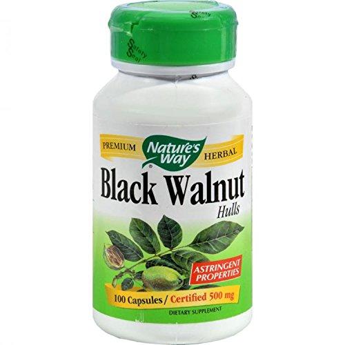 Nature's Way - Black Walnut Hulls, 500 mg, 100 capsules by Natures Way (Capsules Hull 100 500 Mg)