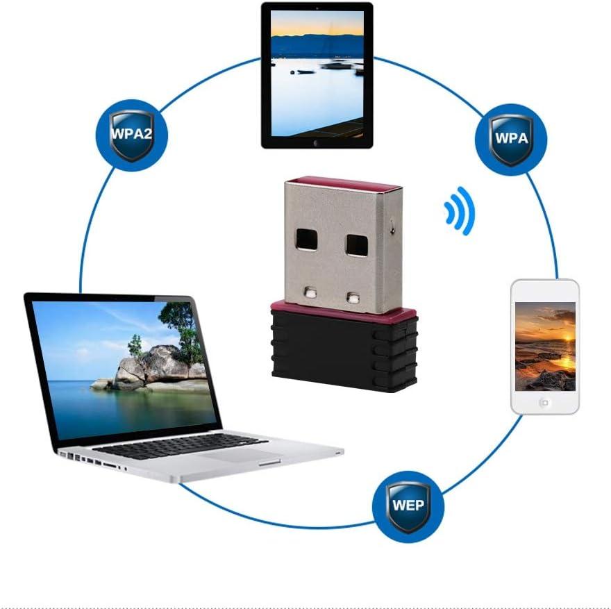 2000//7 for Linux Bewinner Nano WiFi Adapter,USB2.0 300Mbps IEEE 801.11n//g//b Standard High Speed USB Network Card WiFi Adapter,Applies for Windows Vista//XP