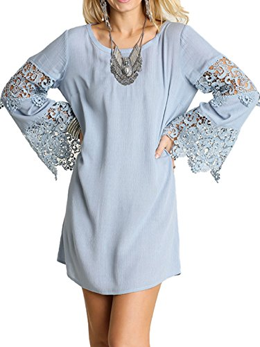 Buy bell sleeve lace dress - 2