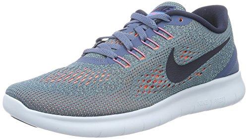 Nike Women Free RN Running Shoe, Ocean Fog/Midnight Navy-Hyper Turq 831509-403 (6) (Shoes Nike Free 2014 Women)