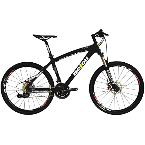 BEIOU Toray T700 Carbon Fiber Mountain Bike Complete Bicycle MTB 27 Speed 26-Inch Wheel SHIMANO 370 CB004 (Black, 15-Inch) -  Zhejiang Beiou Composite Manufacture Co., Ltd, BO-CB004D15X