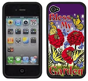 Bless My Garden Handmade iPhone 4 4S Black Hard Plastic Case
