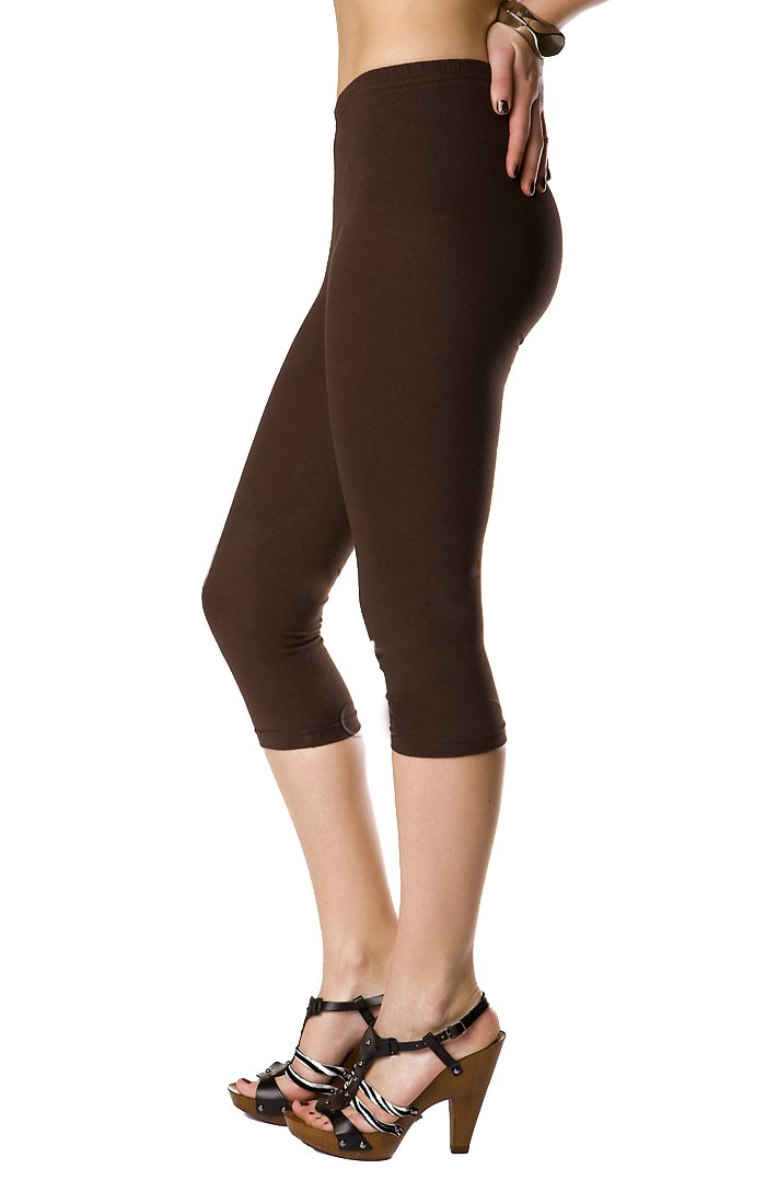 FUTURO FASHION 3/4 Leggings Cropped Cotton Extra Comfort Range, Plus Sizes PT-L-MIDL