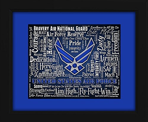 U.S. Air Force Framed 16x20 Art Piece - Beautifully matted and framed behind glass