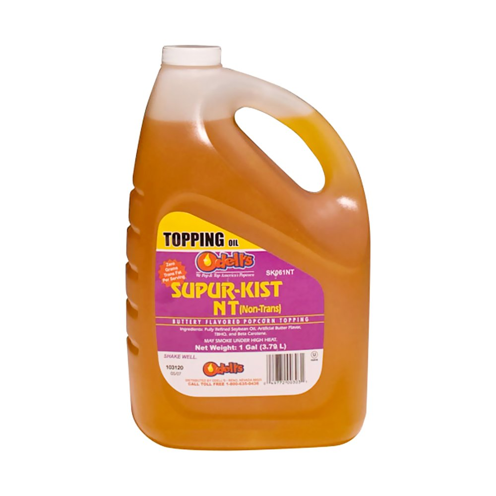 Snappy Popcorn Snappy 1 Gallon Odell's Supur-Kist NT (Non-Trans) Butter Flavor Popcorn Topping Oil by Snappy Popcorn