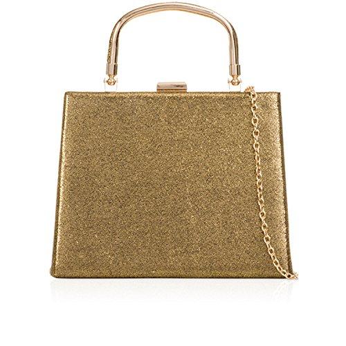 Xardi London - Cartera de mano de Material Sintético para mujer dorado