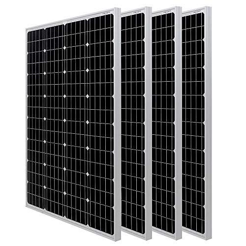Mua HQST 100W Monocrystalline Solar Panel (4-Pack Solar Panels) trên Amazon  Mỹ chính hãng 2020 | Fado