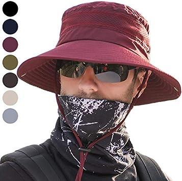 anaoo Sombrero Hombre Gorra de Verano Sombrero Pesca del Sol Gorra ...