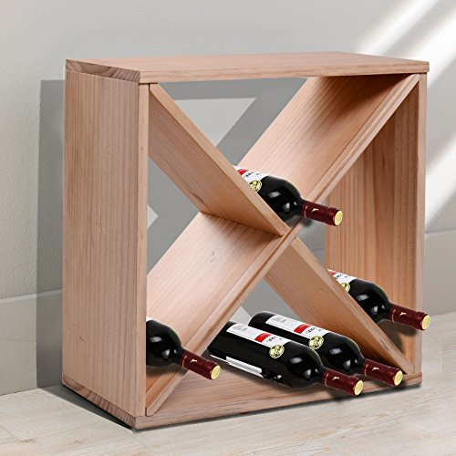 HomCom 24-Bottle Tabletop Wine Rack