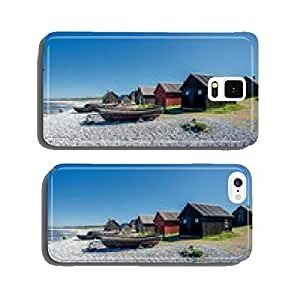 Helgumannens fishing village on Faro island in the Baltic sea cell phone cover case iPhone6