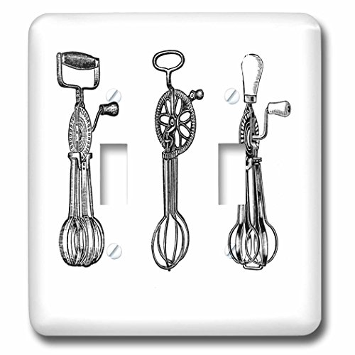 3dRose  lsp_61884_2 3 Vintage Egg Beaters Double Toggle S...