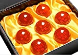 Complete Set of Acrylic Miniature Collectible Crystal Dragon Balls - 1.7 Inches Each - Includes Display Box by Science Purchase