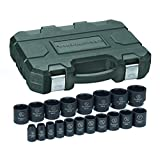 GearWrench 84932N 1/2-Inch Drive SAE Impact Socket Set, 19-Piece