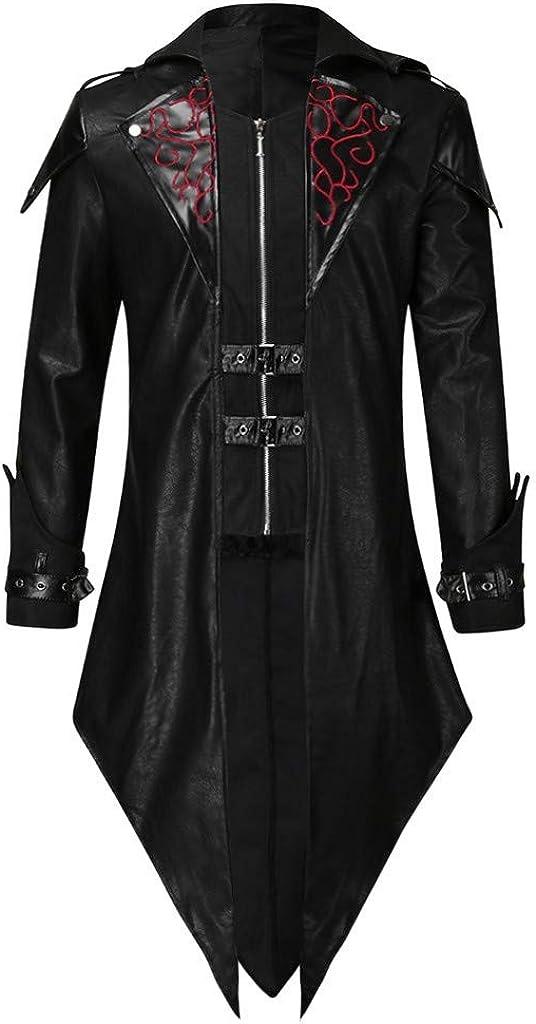 Stoota Sales results No. 1 Men's Limited time sale Vintage Zipper Up Asymmetrical Jacket Irreg Hoodie