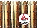 Rustic Wood Shot Board Ski