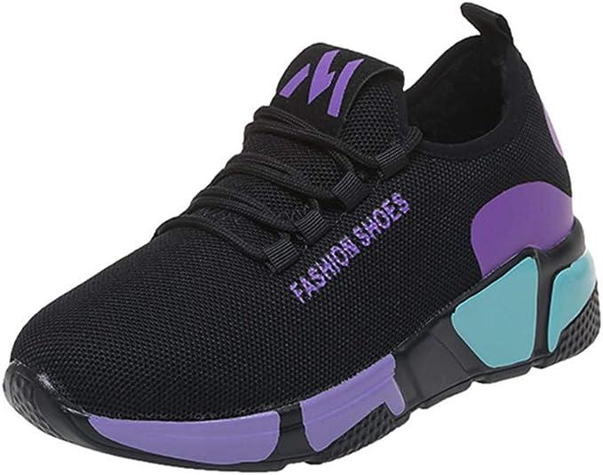 Zapatillas de Deporte para Mujer,Mujeres Moda Caliente Mixta Colores Deporte Plano Corriendo Tobillo Ronda Toe Zapatos: Amazon.es: Ropa y accesorios