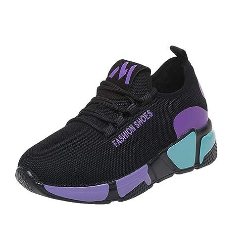 Zapatillas para Correr para Mujer, BOBOLover para Correr Zapatillas de Senderismo para Mujer al Aire Libre Fitness Exterior Antideslizantes Resistentes Al ...