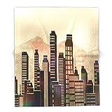 Society6 Metal City - Beige 88'' x 104'' Blanket