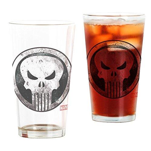 CafePress Punisher Grunge Icon Pint Glass, 16 oz. Drinking Glass