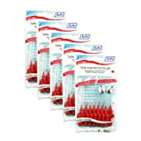 Red TePe Interdental Brushes 0.5mm - 5 Packets of 8 (40 Brushes)