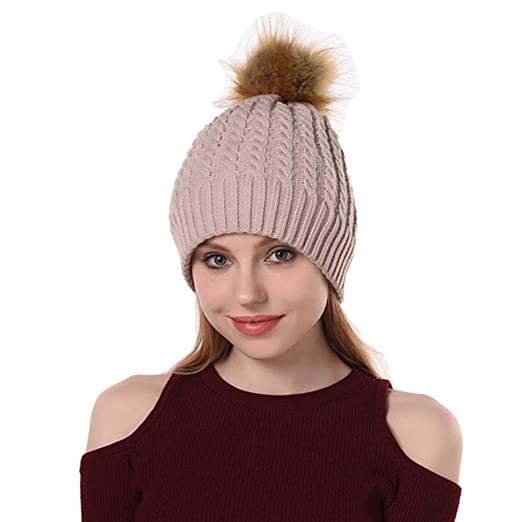 Winter Beanie Hat Scarf Set Warm Knit Hat Thick Knit Skull Cap for Men Women 25c949fab08b