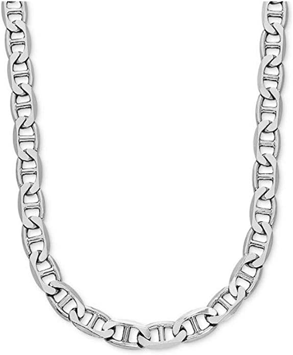 Perlin K39 3 Metre Link Chain Metal Chain Twist Oval 4 mm Silver Jewellery Chain Sold by the Metre for Jewellery Making Necklaces Bracelet DIY Crafts