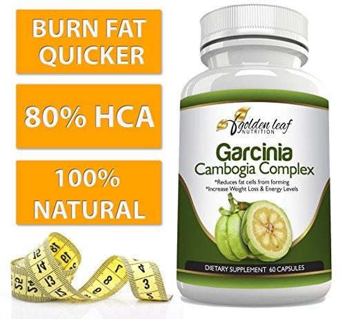 Golden Leaf Nutrition Garcinia Cambogia Extract Appetite Suppressant - 60 Capsules