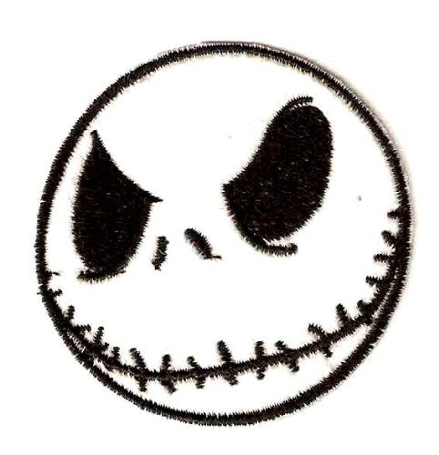 Jack the Skeleton - Nightmare Before Christmas Halloween Disney Embroidered Iron On / Sew On Patch - Jack Skellington - The Pumpkin King