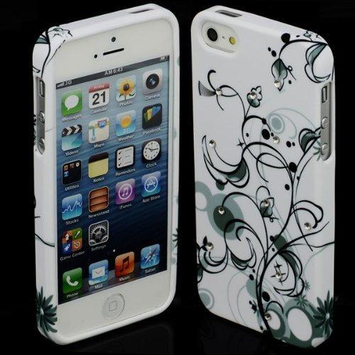 Silikon Blumen #6 Apple iPhone 5 5G Tasche SchutzhŸlle HŸlle Case TPU Cover Etui