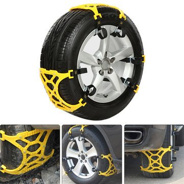 3Pcs Car Snow Chain Tire Tyre Anti-skid Belt Security Chain Tire Wheel Lug...