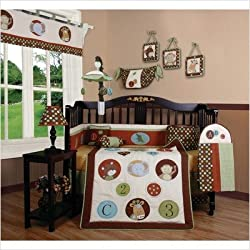 GEENNY Boutique Crib Bedding Set, Animal Scholar, 13 Piece