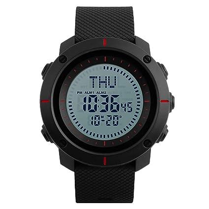 Big Free Tech Brújula Reloj Deportivo Impermeable Hora Mundial Reloj Deportivo Deportivo Reloj Despertador Cuenta Regresiva