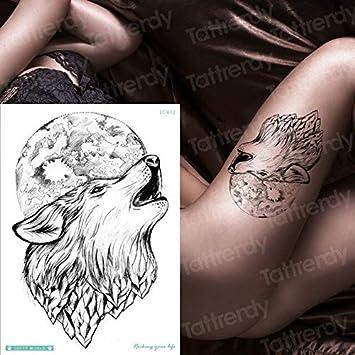 HXMAN 5 Unids Tatuajes Temporales Personalizados Fox Temporal Lobo ...