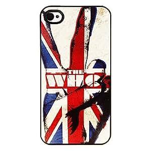El hombre fuerte en el patrón Union Jack aluminoso duro caso para iPhone 4/4S