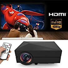 Tronfy®1080P Mini LCD Projector Portable Support AV/SD/USB/HDMI/VGA-G60 Home Cinema Theater Interface Video Games Movie