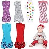 6 Pack Girl juDanzy leg warmers stripes, diamond,dots &solids