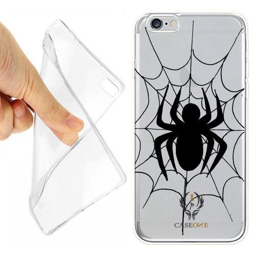 CUSTODIA COVER CASE CASEONE SPIDER BLACK PER IPHONE 6S OPACO