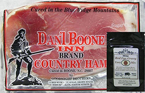 Dan'l Boone Country Ham 12oz package with Red Eye Gravy - Ham Cured
