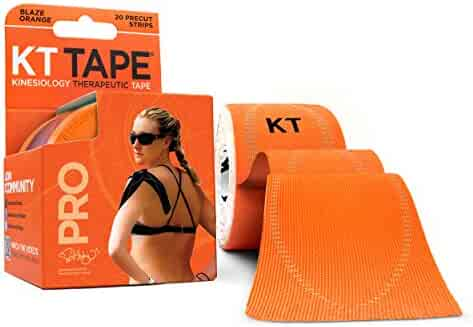 KT TAPE PRO Kinesiology Sports Tape, 20 Precut 10 Inch Strips, 100% Synthetic, Water Resistant, Breathable, Free Videos, Pro & Olympic Choice, Kinesiology Tape