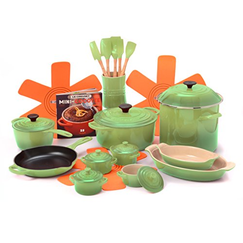 Le Creuset Palm 21 Piece Cookware Set with 5.5 Quart Dutch Oven