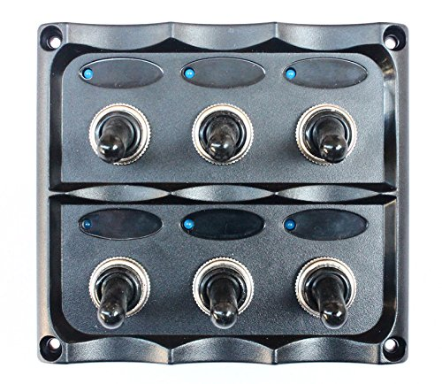 Bandc Marine Grade Boat 6 Way Toggle Switch Panel
