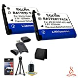 Two Halcyon 1200 mAH Lithium Ion Replacement LI-42B Battery + Memory Card Wallet + SDHC Card USB Reader + Deluxe Starter Kit for Olympus Stylus Tough TG-310, Tough 3000, Stylus 850, Stylus 5010, Stylus 7030, Stylus 7040, Stylus FE4030, VR310, VR320, VR330