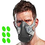 TEC Workout Oxygen Mask - 16 Breathing Levels, Gain Benefits of High Altitude Elevation Training for Running, Cycling, Boxing, HIIT; Increases Strength, Endurance, Stamina [+ Free Bonus Carry Case]