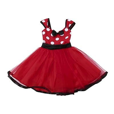 a9410f9b27e Smileq Noël Robe de fête pour enfant bébé fille Tutu Princesse de Noël Robe  Boule sans manches