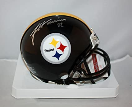 c28cea206d2 Image Unavailable. Image not available for. Color: James Harrison  Autographed Pittsburgh Steelers Mini Helmet ...